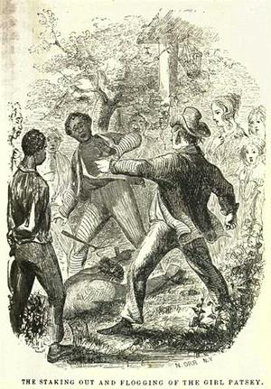 Depiction of Patsey's flogging in Twelve Years A Slave book