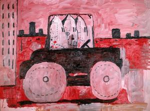 "Philip Guston, City Limits, 1969, oil on canvas, 77 x 103 ¼.""  The Museum of Modern Art, New York, Gift of Musa Guston, 1991. © The Estate of Philip Guston"