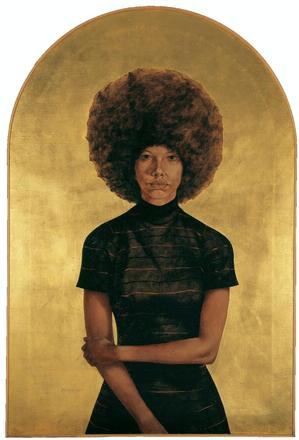 "Barkley L. Hendricks, Lawdy Mama, 1969, oil and gold leaf on canvas, 53 3/4 x 36 ¼."" The Studio Museum in Harlem, Gift of Stuart Liebman in memory of Joseph B. Liebman, 83.25. © Barkley L. Hendricks. Photo courtesy of the artist and Jack Shainman Gallery, NYC"