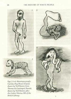 "Four drawings for The History of White People, graphite on paper, 2008, approx. 5 x 7"" each."
