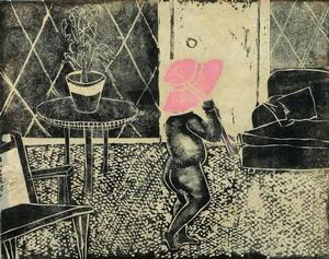 Ruth Waddy, 1968, linocut, a/p, 14 x 11. Collection of Dianne Whitfield-Locke and Carnell Locke