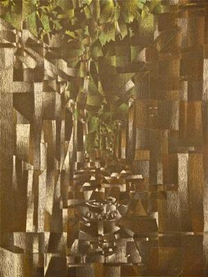 Eric Mack, Bangkor Wat Ruins, prismacolor on paper, 16 x 12', 1999 Atlanta College of Art