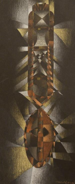 "Eric Mack, Study, prismacolor on paper, 20 x 12"", 1999"