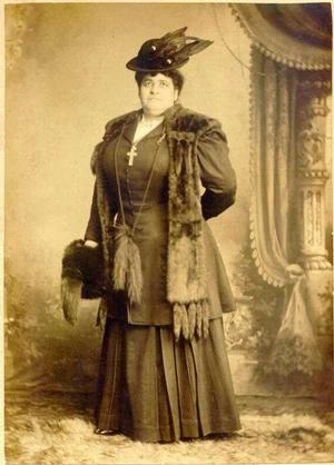 Formal portrait of Maggie Walker in the trappings of female attire