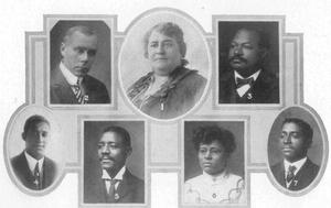 Maggie Walker (c) and officers of the St. Luke Bank