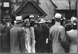 Crowds Outside of a Fashionable Negro Church After  Easter Sunday , Chicago, Bronzeville,  April 1941, Edwin Rosskam