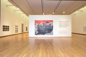 View of Street Level: Mark Bradford, William Cordova, Robin Rhode, 2007, Nasher Museum of Art at Duke University. Photo: Peter Paul Geoffrion