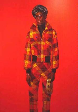 Barkley L. Hendricks, Blood (Donald Formey) 1975, a reference to Picasso's Harlequins. Wedge Collection