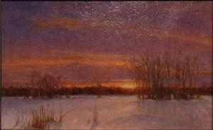 Mason Archie, Sunset across the Snow, 5x8