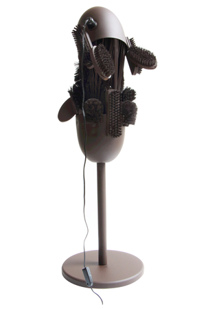 Rodrigo Almeida, Servant Lamp, from Slaves Series, 2013 , steel, wood and plastic, courtesy of the artist, Brazil. Photo: Studio Rodrigo Almeida
