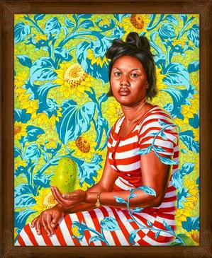 "Kehinde Wiley Venus at Paphos (The World Stage: Haiti), 2014, oil on canvas, 60 x 48,"" Courtesy of the artist and Roberts & Tilton, Culver City, CA"