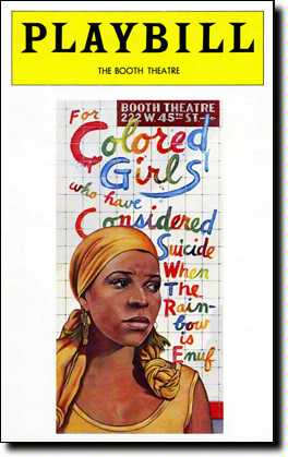 For Colored Girls Playbill