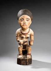 Yombe artist, Mayombe, Democratic Republic of the Congo, Wooden grave figure, early 20th century. Wood, pigment. Royal Museum for Central Africa, Tervuren, Belgium