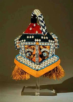 Kuba artist, Mukenga mask. Collection of Hampton University Museum