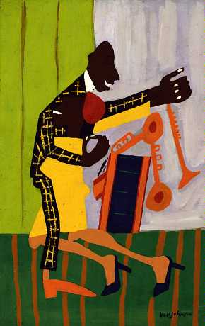 William H. Johnson, Jitterbugs II, ca. 1941, Smithsonian American Art Museum