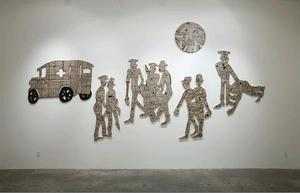 Deborah Grant, Moon over Harlem-inspired installation, The Provenance... Steve Turner Contemporary