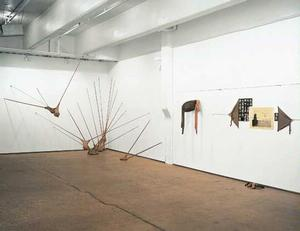 Installation view, Respondez S'il Vous Plait, nylon mesh pieces, 1975-77, solo exhibition at Thomas Erben Gallery, 2003. Image courtesy the gallery