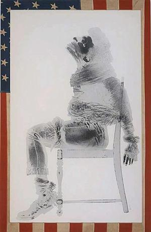 David Hammons, Injustice Case, 1970, print, body print (margarine and powder).  Courtesy of the artist