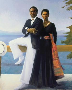Simmie Knox, Portrait of Bill and Camille Cosby, 1984, oil on canvas, collection of Camille O. and William H. Cosby Jr. Photo: David Stansbury, permission courtesy of the artist