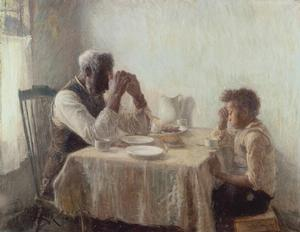 Henry O. Tanner, The Thankful Poor  1894 Collection of Camille O. and William H. Cosby Jr.