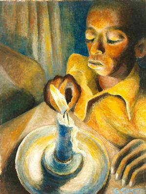 Gerard Sekoto, South Africa, Boy and the Candle 1943 National Museum of African Art