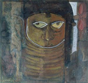 David C. Driskell, Benin Head  c. 1978, Collection of Camille O. and William H. Cosby Jr.