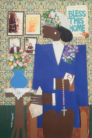 Varnette Honeywood, Precious Memories 1984 Collage Collection of Camille O. and William H. Cosby Jr.