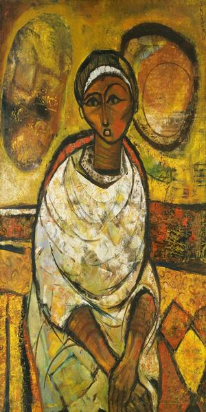 Skunder Boghossian, Ethiopia, Devil Descending 1972 National Museum of African Art