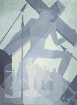 Aaron Douglas, Crucifixion 1934 Collection of Camille O. and William H. Cosby Jr.