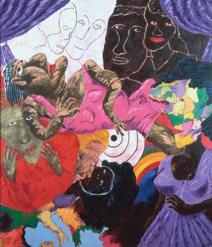 Robert Colescott Death of a Mulatto Woman 1991 Collection of Camille O. and William H. Cosby Jr.