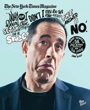 NYT Jerry Seinfeld cover design by Arem Duplessis
