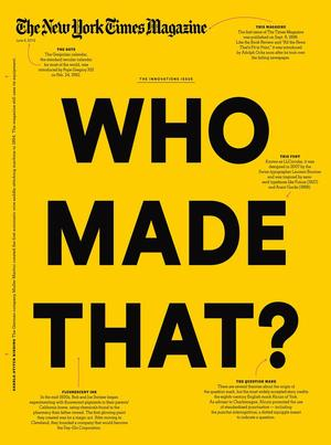 New York Times Magazine cover designed by Arem Duplessis