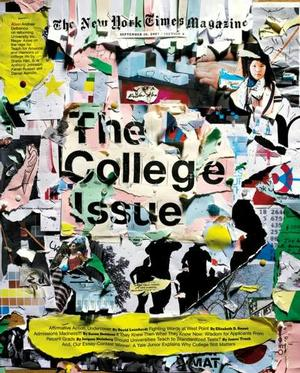 Arem Duplessis's design for NYT annual college issue