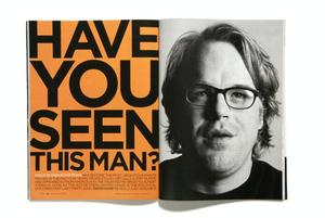GQ Gothan type in spread on Phillip Seymour Hoffman