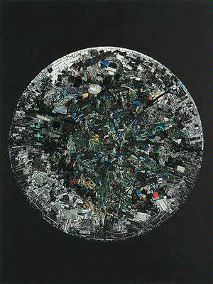 Jack Whitten, Full Circle: For Amiri Baraka, 2014. Alexander Gray & Associates