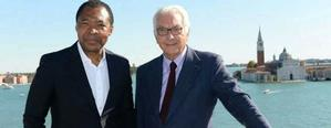 Okwui Enwezor and Paolo Baratta, president of the Venice Biennale