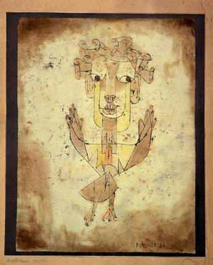 Paul Klee, Angelus Novus, 1920, monoprint. Collection Museum of Israel