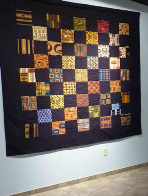 John Sims, African textile quilt