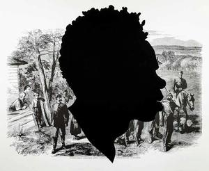 Kara Walker,  Harper's Pictorial History of the Civil War (Annotated): Confederate Prisoners Being Conducted from Jonesborough, edition 21/35 , 2005, offset lithography and screenprint, 39 X 53""