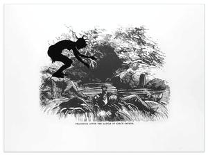 Kara Walker, Harper's Pictorial History of the Civil War (Annotated) Deadbrook after the Battle of Ezra's Church, 2005, offset lithography and screenprint, 39 X 53""