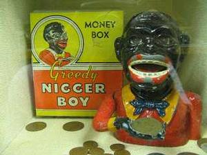 Nigger boy money box