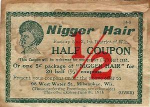 Nigger hair coupon