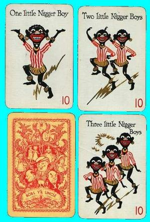 Nigger boy playing cards