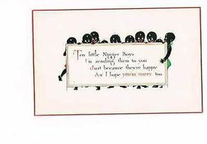 Ten Little Nigger Boys greeting card