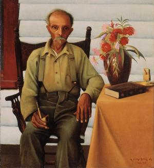 "Archibald J. Motley Jr., Uncle Bob, 1928, oil on canvas,  40 x 36"" Collection of Mara Motley, MD, and Valerie Gerrard Browne.Image courtesy of the Chicago History Museum, Chicago, Illinois. © Valerie Gerrard Browne."