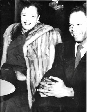 Billie Holiday and David Howard. One half of photo by Joe Schwartz. Collection of Samella Lewis