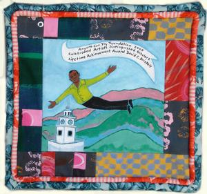 Quilt art made for 2006 honoree David Driskell