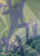 Aaron Douglas, Judgment Day, oil on masonite. Collection National Gallery of Art