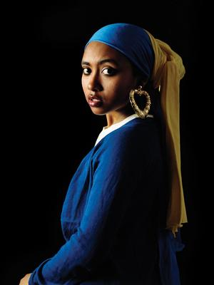 Awol Erizku (Ethiopian) Girl with Bamboo Earring,  2009, photo