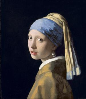 Johannes Vermeer, Girl With a Pearl Earring, c. 1665, oil on canvas, Collection of Mauritshuis, The Hague